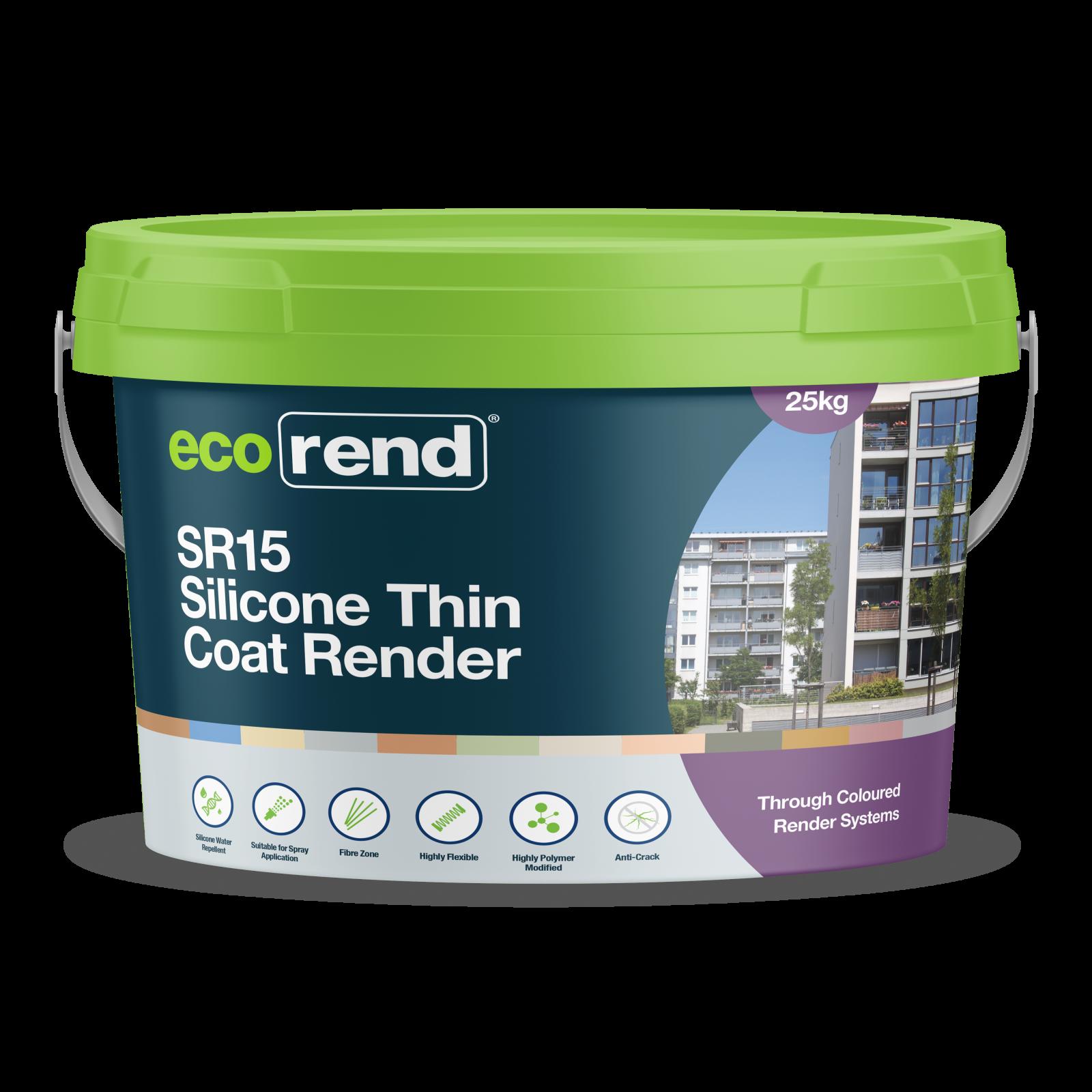 Ecorend SR15 Silicone Thin coat render 25kg tub