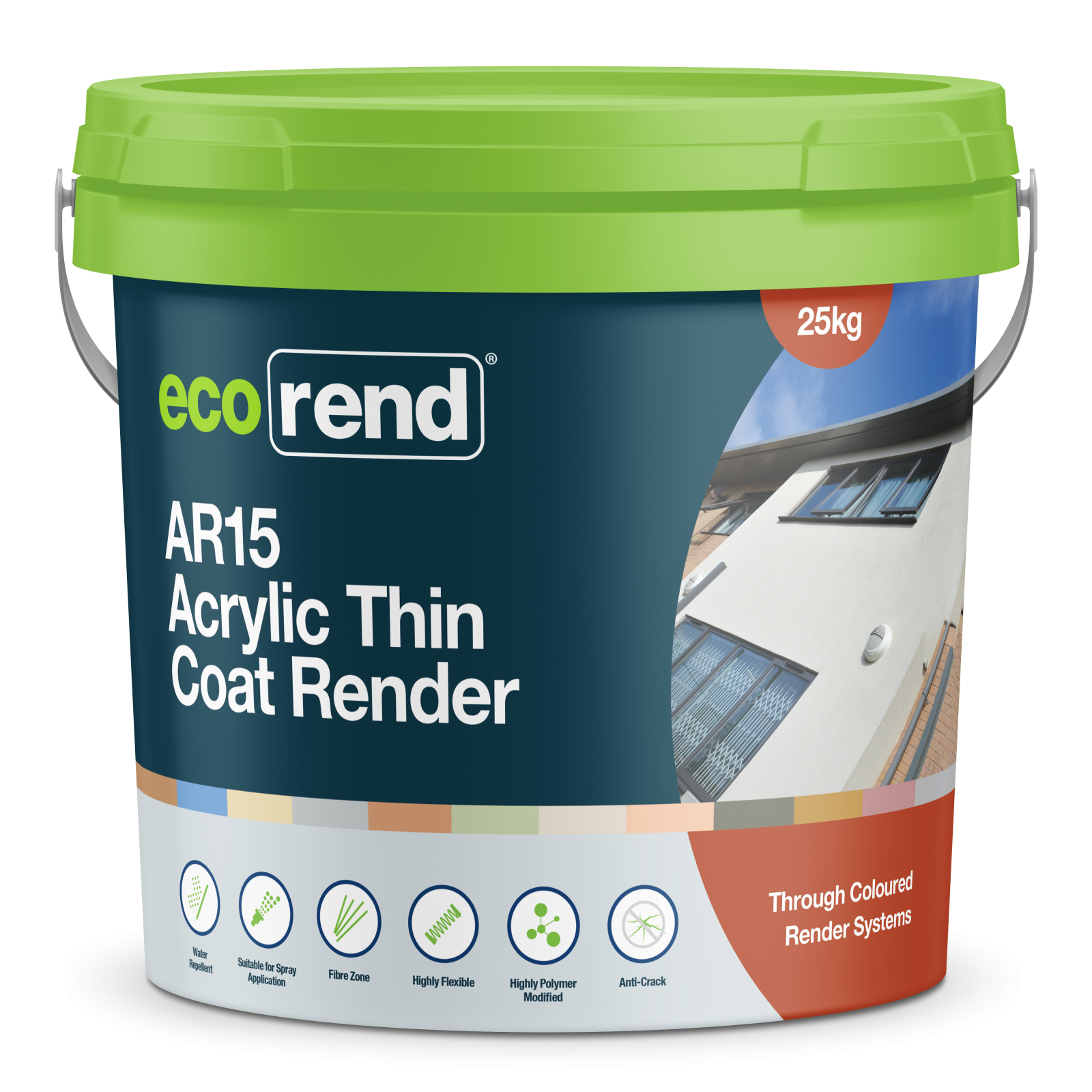 ecorend ar15 acrylic thin coat render 25kg tub