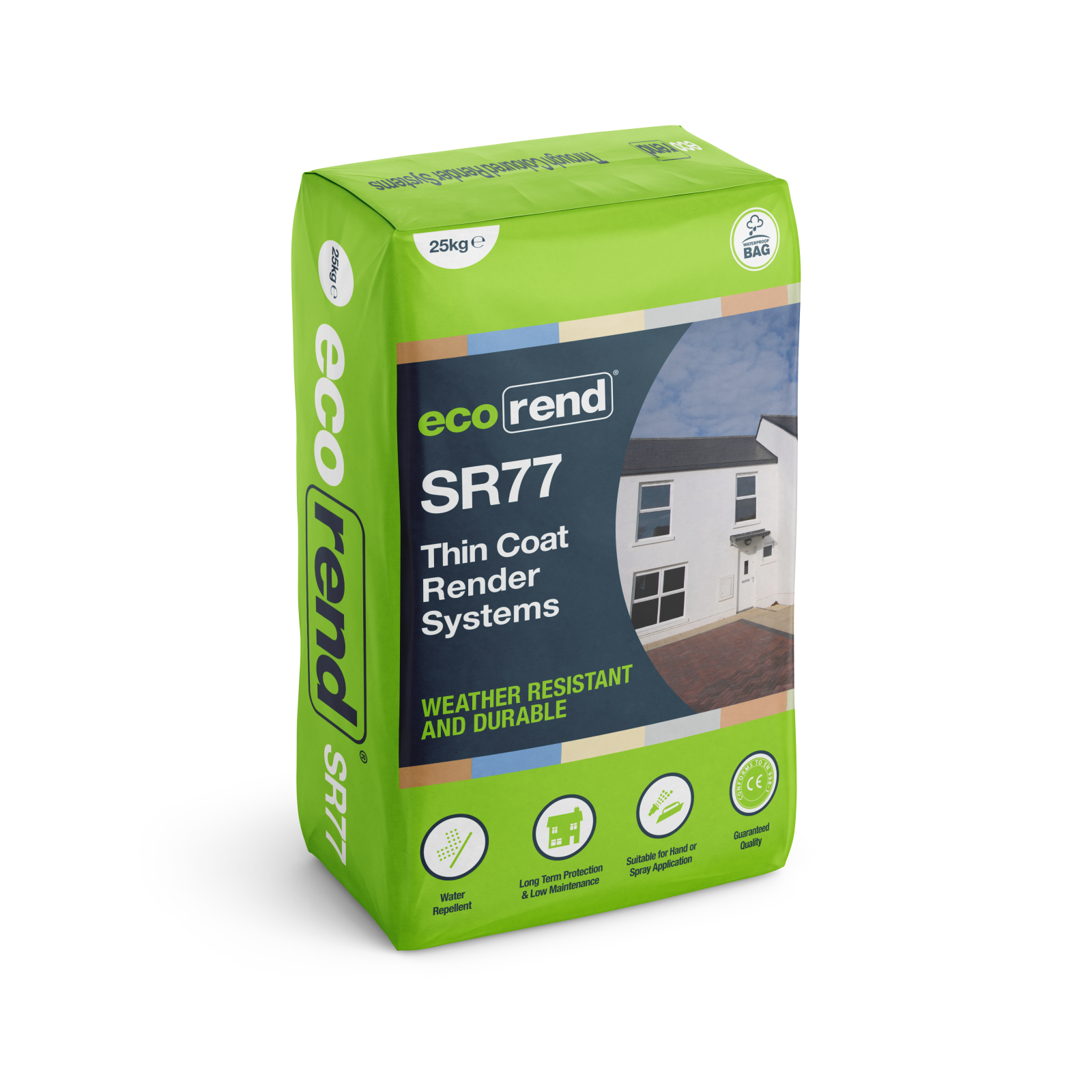 SR77 – Silicone Mineral Thin Coat Render – Colourfast