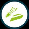 Spray or Trowel Application Icon