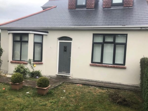 Property complete in Ecorend MR1 Monocouche One Coat Render in Marble White
