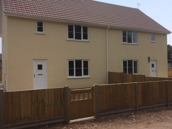 Semi-detached property completed in Ecorend MR1 Monocouche Render