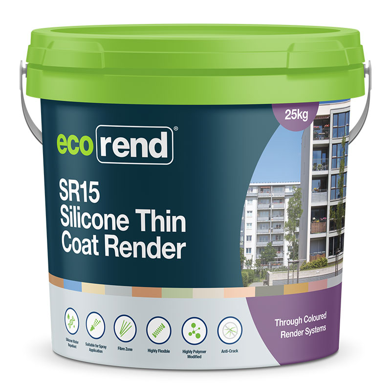 SR15 – Silicone Thin Coat Render – Anti-Crack